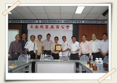 Visit to the South Johor Foundry & Engineering Industries Association<br>柔南机器厂商公会